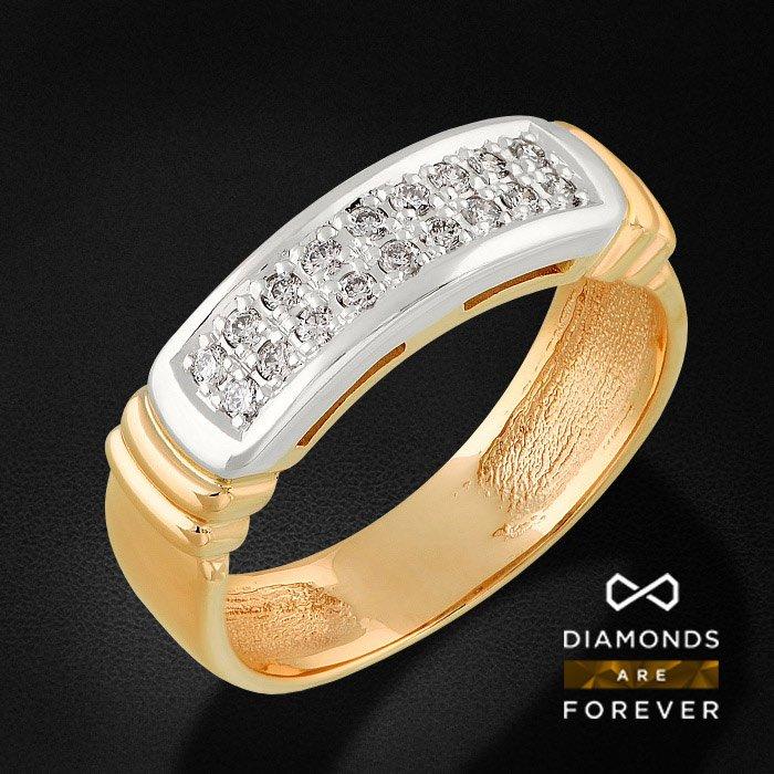 Кольцо с бриллиантами в красном золоте 585 пробыКольца<br>Кольцо с бриллиантами в красном золоте 585 пробы. Характеристики вставок: 57кр 18-0.157 карат 5/5а. Средний вес: 4,84 гр.<br>