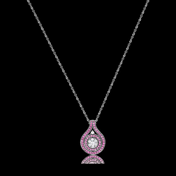Купить Кулон с рубином, бриллиантами из черного золота 585 пробы