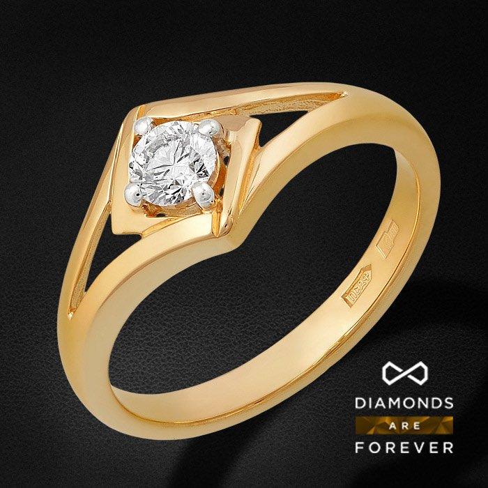 Кольцо с бриллиантами из желтого золота 585 пробыКольца<br>Кольцо с бриллиантами из желтого золота 585 пробы. Характеристики вставок: бриллиант 57кр 1-0.25ct 5/5а. Средний вес изделия: 2.59 гр.<br>