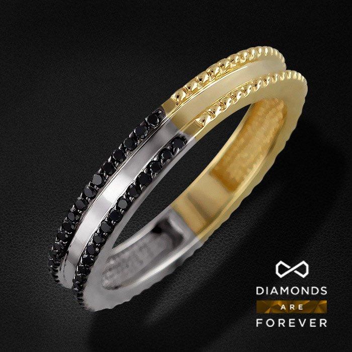 Кольцо с бриллиантами из комбинированного золота 585 пробыКольца<br>Кольцо с бриллиантами из комбинированного золота 585 пробы. Характеристики вставок: бриллиант кр-57 7/9 54шт.,0.31ct. Средний вес изделия: 3.35 гр.<br>