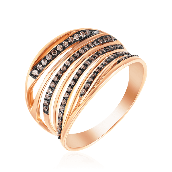 Купить Кольцо с бриллиантами из красного золота 585 пробы