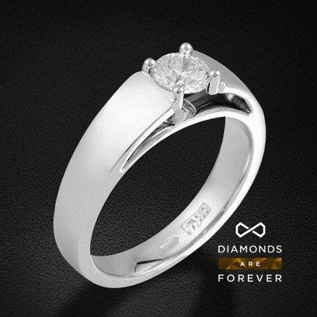 Кольцо с бриллиантами из белого золота 585 пробыКольца<br>Кольцо с бриллиантами из белого золота 585 пробы. Характеристики вставок: бриллиант 57кр 1-0.51ct 4/4а. Средний вес изделия: 6,83 гр.<br>
