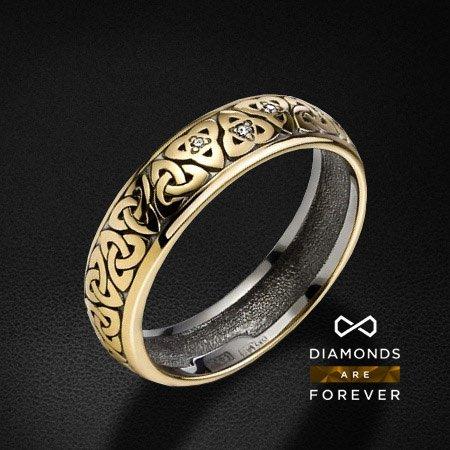 Обручальное кольцо с 3 бриллиантами из желтого золота 585 пробыКольца<br>Обручальное кольцо с 3 бриллиантами из желтого золота 585 пробы. Характеристики вставок: 3 бриллианта 0.013 карат. Средний вес: 4,72 гр.<br>