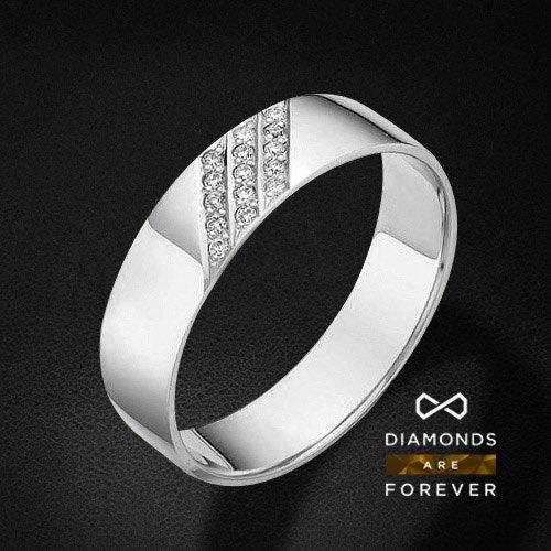 Кольцо с бриллиантами из белого золота 585 пробыКольца<br>Кольцо с бриллиантами из белого золота 585 пробы. Характеристики вставок: бриллиант 15 0.06 3/5 круг. Средний вес изделия: 3,34 гр.<br>