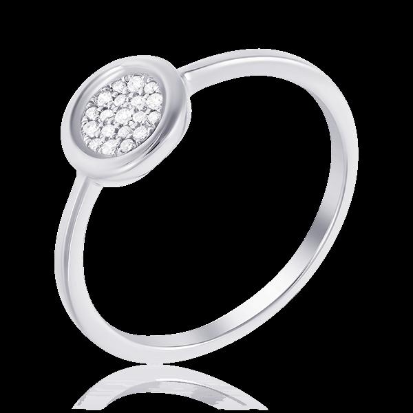 Купить Кольцо с бриллиантами из белого золота 585 пробы