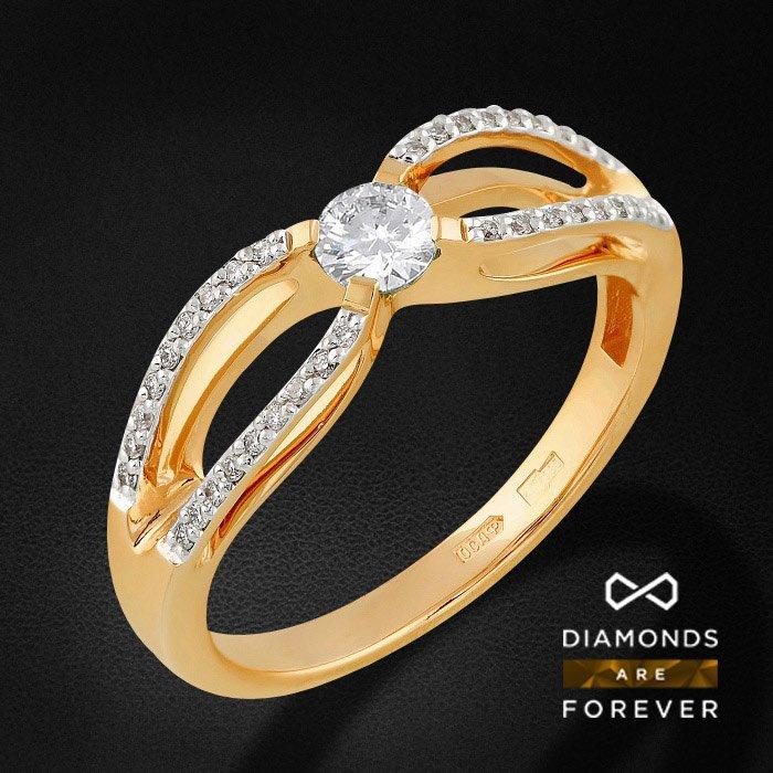 Кольцо с бриллиантами в красном золоте 585 пробыКольца<br>Кольцо с бриллиантами в красном золоте 585 пробы. Характеристики вставок: 57кр 36-0.128 карат 5/5а, 57кр 1-0.20 карат 5/5а. Средний вес: 3,09 гр.<br>