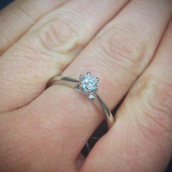 Кольцо для помолвки с бриллиантами из белого золота 585 пробы (арт. 24913) b2c93a34d46