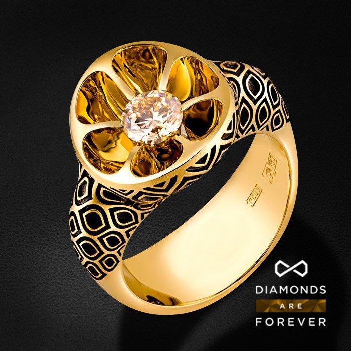 Кольцо с бриллиантами в красном золотеКольца с бриллиантами<br>Кольцо с бриллиантами в красном золоте 750 пробы. Характеристики: 2 бриллиант 0.655. Средний вес: 13.97 гр.<br>