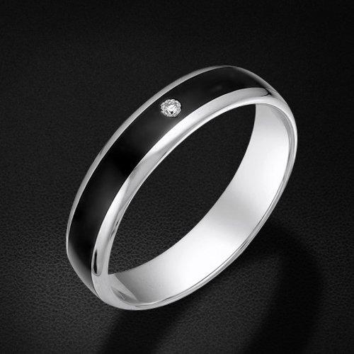 Обручальное кольцо с бриллиантами из белого золота 585 пробыКольца<br>Обручальное кольцо с бриллиантами из белого золота 585 пробы. Характеристики вставок: бриллиант 1 0.018 3/6 кр57. Средний вес изделия: 2,05 гр.<br>