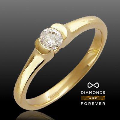 Кольцо с бриллиантами из белого золота 750 пробыКольца<br>Кольцо с бриллиантами из белого золота 750 пробы. Характеристики: бриллиант 5/5 1шт.,0.27ct. Средний вес изделия: 3,9 гр.<br>