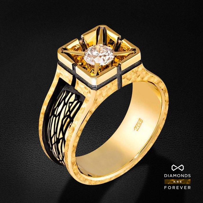 Мужское кольцо с бриллиантами из желтого золота 585 пробыДля мужчин<br>Мужское кольцо с бриллиантами из желтого золота 585 пробы. Характеристики вставок: 1 бриллиант 0,019. Средний вес изделия: 10.72 гр.<br>