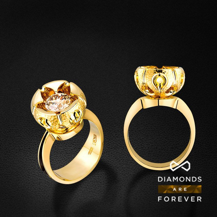 Кольцо с бриллиантами в красном золоте 750 пробыКольца<br>Кольцо с бриллиантами в красном золоте 750 пробы. Характеристики вставок: 2 бриллианта 1.205. Средний вес: 13,71 гр.<br>