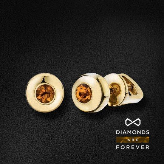 Серьги с бриллиантами из желтого золота 585 пробыЮвелирные украшения<br>Серьги с бриллиантами из желтого золота 585 пробы. Характеристики вставок: бриллиант (кол-во: 2, вес: 0.47). Средний вес: 2.48 гр.<br>