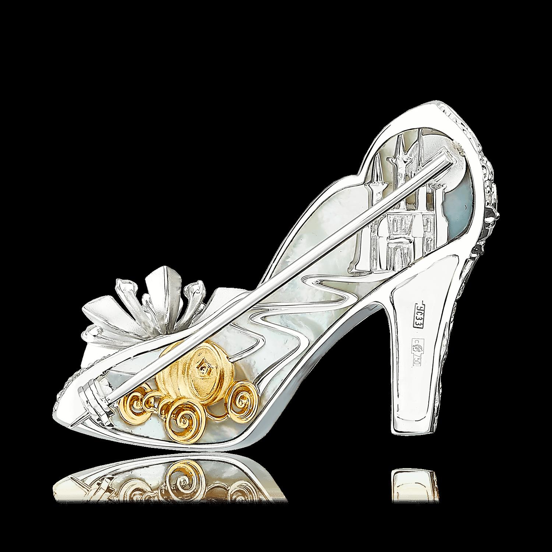 "Купить Брошь ""Туфелька для Золушки"" с бриллиантами, белыми ..."