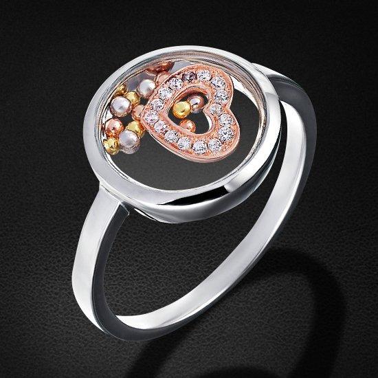 Кольцо с цирконием из серебра 925 пробыКольца<br>Кольцо с цирконием из серебра 925 пробы. Средний вес: 4,28 гр.<br>
