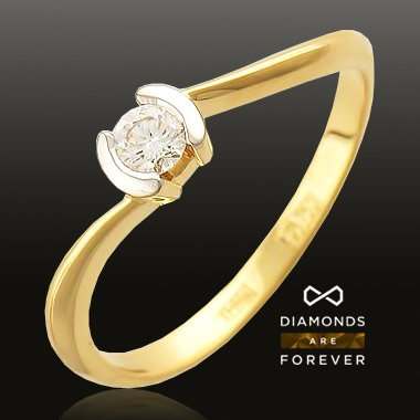 Кольцо с бриллиантами из красного золота 585 пробыЮвелирные украшения<br>Кольцо с бриллиантами из красного золота 585 пробы. Характеристики вставок: бриллиант 5/4 1шт.,0.15ct. Средний вес изделия: 2,19 гр.<br>
