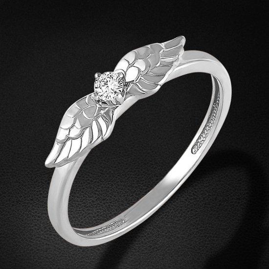 Кольцо с бриллиантами из белого золота 585 пробыКольца<br>Кольцо с бриллиантами из белого золота 585 пробы. Характеристики вставок: 1 бриллиант кр57 0,058 3/6а. Средний вес изделия: 1,79 гр.<br>
