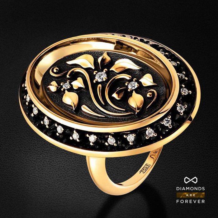 Кольцо Наследие с бриллиантами в золоте 585 пробыКольца<br>Кольцо с бриллиантами из желтого золота 585 пробы. Характеристики вставок: 27 бриллиант 0,189. Средний вес изделия: 8.68 гр.<br>