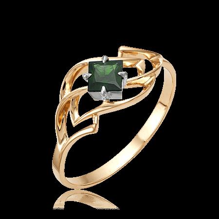 Купить Кольцо с изумрудом из красного золота 585 пробы