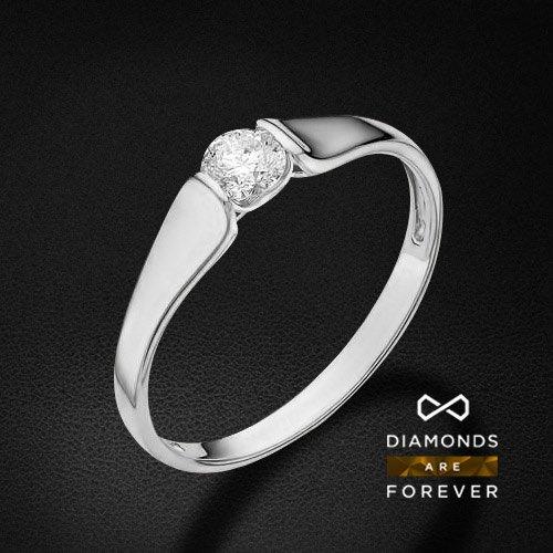 Кольцо с 1 бриллиантом из белого золота 585 пробыКольца<br>Кольцо с 1 бриллиантом из белого золота 585 пробы. Характеристики вставок: бриллиант 1 0.23 3/5 круг. Средний вес изделия: 1,5 гр.<br>