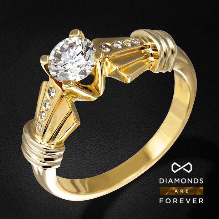 Кольцо с бриллиантами из комбинированного золота 585 пробыКольца<br>Кольцо с бриллиантами из комбинированного золота 585 пробы. Характеристики вставок: 8 бриллиант кр57 0.06 3/4 а, 1 бриллиант кр57 0.71 6/7 а. Средний вес изделия: 5,36 гр.<br>