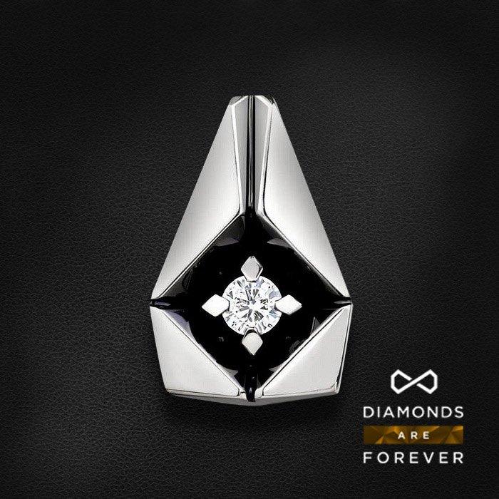 Кулон с бриллиантом в белом золотеКулоны с бриллиантами<br>Кулон с бриллиантом в белом золоте 585 пробы. Характеристики: 1 бриллиант 0.1. Средний вес: 2.65 гр.<br>