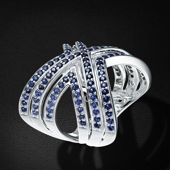 Кольцо с цирконием из серебра 925 пробыКольца<br>Кольцо с цирконием из серебра 925 пробы. Средний вес: 10,77 гр.<br>