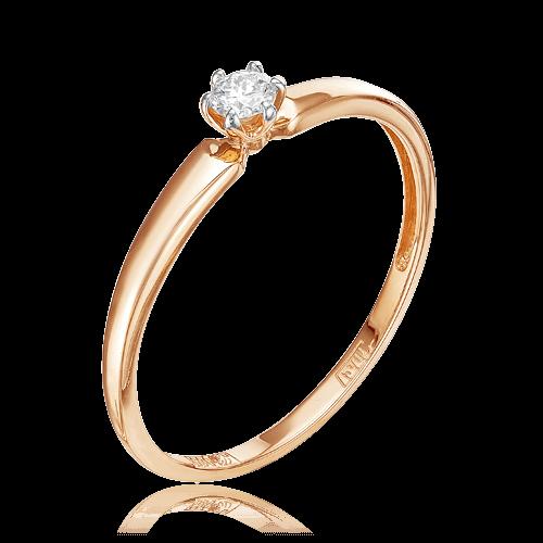 Кольцо с 1 бриллиантом из белого золота 585 пробыКольца<br>Кольцо с 1 бриллиантом из белого золота 585 пробы. Характеристики вставок: 1 бриллиант кр57 4/6а 0,082. Средний вес изделия: 0,95 гр.<br>