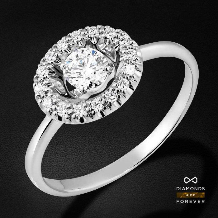 Кольцо с бриллиантами из белого золота 585 пробыКольца<br>Кольцо с бриллиантами из белого золота 585 пробы. Характеристики вставок: 17 бриллиант 0,34. Средний вес изделия: 2.13 гр.<br>