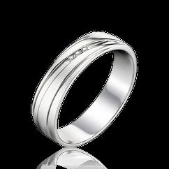 36bcc105f294 Обручальное кольцо с бриллиантами из белого золота 585 пробы (арт. 46339)