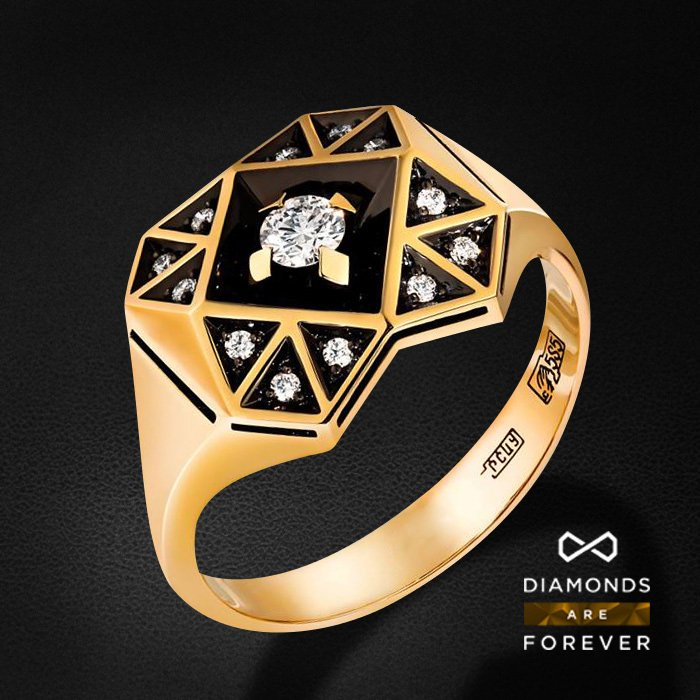 Кулон с бриллиантами из желтого золота 585 пробыКулоны<br>Кулон с бриллиантами из желтого золота 585 пробы. Характеристики вставок: 13 бриллиант 0.19 ct. Средний вес изделия: 4.13 гр.<br>