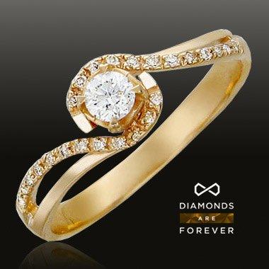 Кольцо с бриллиантами из красного золота 585 пробыЮвелирные украшения<br>Кольцо с бриллиантами из красного золота 585 пробы. Характеристики вставок: бриллиант 3/5 20шт.,0.06ct ; бриллиант 3/6 1шт.,0.17ct ; бриллиант 4/5 1шт.,0ct ; бриллиант 4/5 3шт.,0.01ct. Средний вес изделия: 2,08 гр.<br>