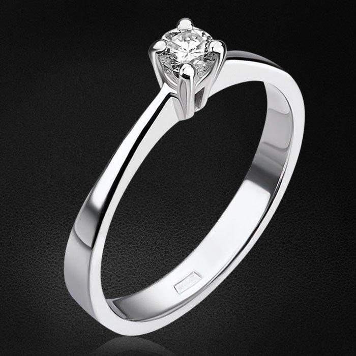 Кольцо  с бриллиантами из белого золота 585 пробыКольца<br>Кольцо  с бриллиантами из белого золота 585 пробы. Характеристики вставок: 1бриллианткр570,110ct4/5. Средний вес изделия: 2,09 гр.<br>