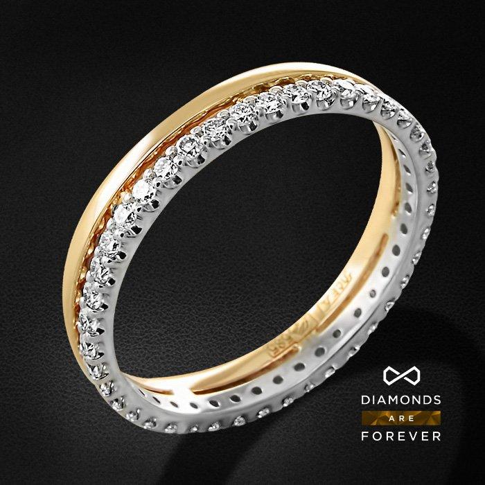 Кольцо с бриллиантами из красного золота 585 пробыКольца с бриллиантами<br>Кольцо с бриллиантами из красного золота 585 пробы. Характеристики вставок: 42 бриллиант кр57 0.435. Средний вес изделия: 2.31 гр.<br>