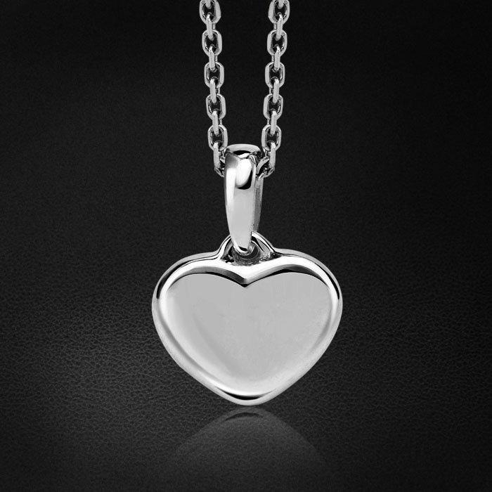 Кулон в форме сердца из белого золота 585 пробыКулоны<br>Нежная и лаконичная подвеска Сердце с мягким глянцем белого золота – деликатный, романтичный и всегда уместный аксессуар. Средний вес: 2,47 гр.<br>