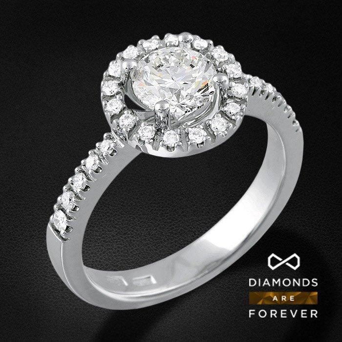 Роскошное кольцо с бриллиантами из белого золота 585 пробыКольца<br>Роскошное кольцо с бриллиантами из белого золота 585 пробы. Характеристики вставок: бриллиант 57кр 1-1.01ct 5/7а, бриллиант 57кр 2-0.023ct 3/5а, бриллиант 57кр 20-0.154ct 3/5а, бриллиант 57кр 2-0.026ct 3/5а, бриллиант 57кр 2-0.039ct 3/5а. Средний вес изде...<br>