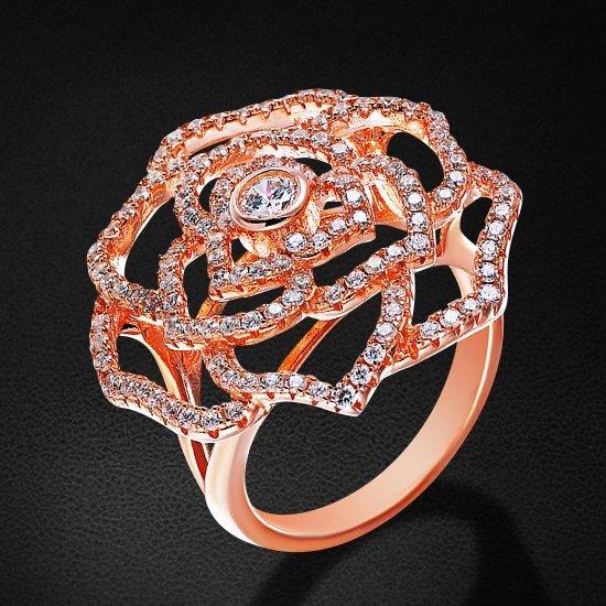 Кольцо с цирконием из серебра 925 пробыКольца<br>Кольцо с цирконием из серебра 925 пробы. Средний вес: 5,93 гр.<br>