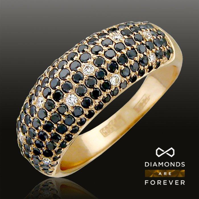 Кольцо с черными бриллиантами, бриллиантами из красного золота 585 пробыЮвелирные украшения<br>Кольцо с черными бриллиантами, бриллиантами из красного золота 585 пробы. Характеристики вставок: бриллиант  4/6  10шт.,0.08ct; бриллиант  4/6  1шт.,0ct; бриллиант  7/9  16шт.,0.06ct; бриллиант  7/9  18шт.,0.1ct; бриллиант  7/9  1шт.,0ct; бриллиант  7/9  ...<br>