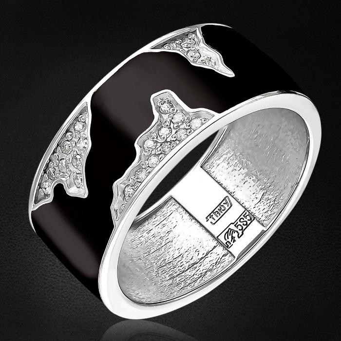 Кольцо с бриллиантами из белого золота 585 пробыКольца<br>Кольцо с бриллиантами из белого золота 585 пробы. Характеристики вставок: 22 бриллиант кр17 0,072 2/2а. Средний вес изделия: 4,93 гр.<br>