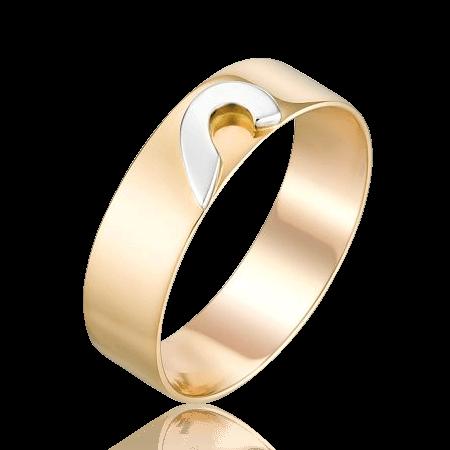 Купить Обручальное кольцо без вставок из комбинированного золота 585 пробы