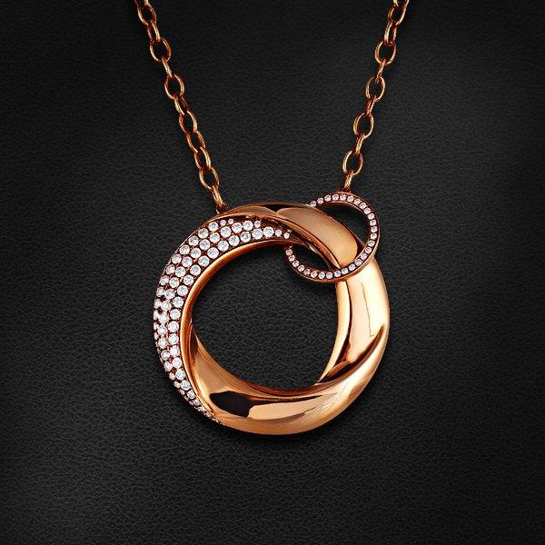 Колье с бриллиантами из красного золота 750 пробыКолье<br>Колье с бриллиантами из красного золота 750 пробы. Характеристики вставок: бриллиант кр57 3/5 - 121шт., вес 1.75. Средний вес изделия: 17,36 гр.<br>
