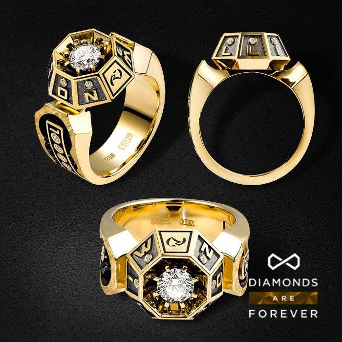 Кольцо с бриллиантами в желтом золоте 585 пробыКольца<br>Кольцо с бриллиантами в желтом золоте 585 пробы. Характеристики: 22 бриллианта 0,652. Средний вес: 12,99 гр.<br>