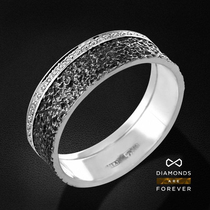 Купить со скидкой Кольцо с бриллиантами из белого золота 585 пробы