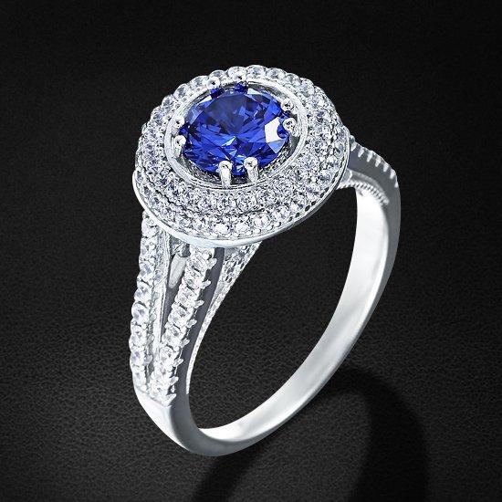 Кольцо с цирконием из серебра 925 пробыКольца<br>Кольцо с цирконием из серебра 925 пробы. Средний вес: 6,03 гр.<br>