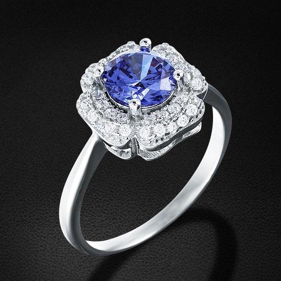 Кольцо с цирконием из серебра 925 пробыКольца<br>Кольцо с цирконием из серебра 925 пробы. Средний вес: 3,6 гр.<br>