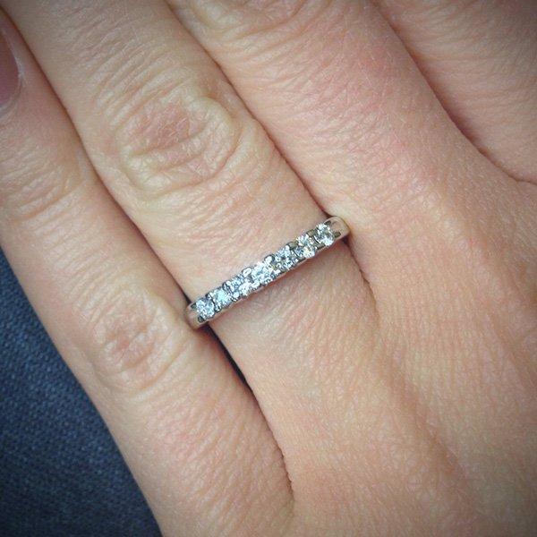 кольцо с бриллиантами дорожка фото