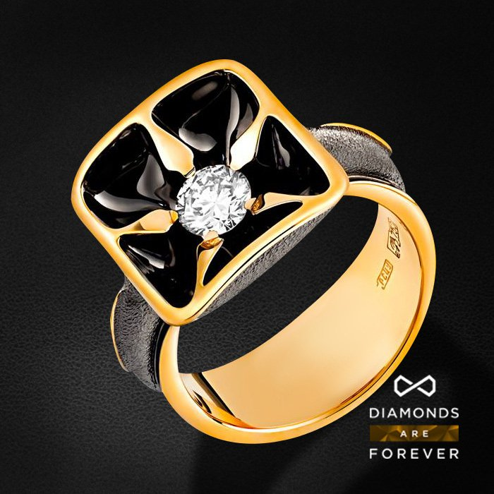 Кольцо с бриллиантами из красного золота 750 пробыКольца<br>Кольцо с бриллиантами из красного золота 750 пробы. Характеристики вставок: 2 бриллиант 0.595 ct. Средний вес изделия: 11.97 гр.<br>